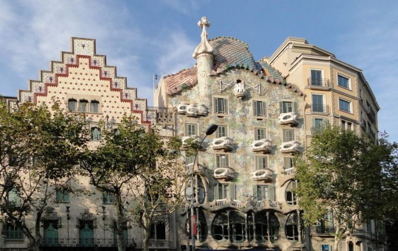 Façana de la Modernista Casa Batllo de Barcelona