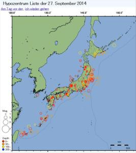 Aktive Vulkane in Japan (Kanaren News)