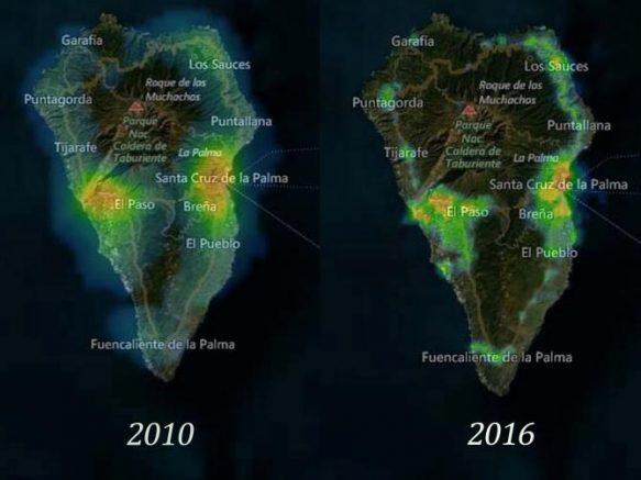 Lichtverschmutzung Karte Welt.Lichtverschmutzung Weiter Eingeschrankt La Palma News