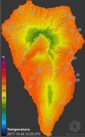 La Palma Hitze