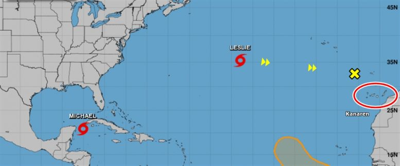 Hurrikan Leslie