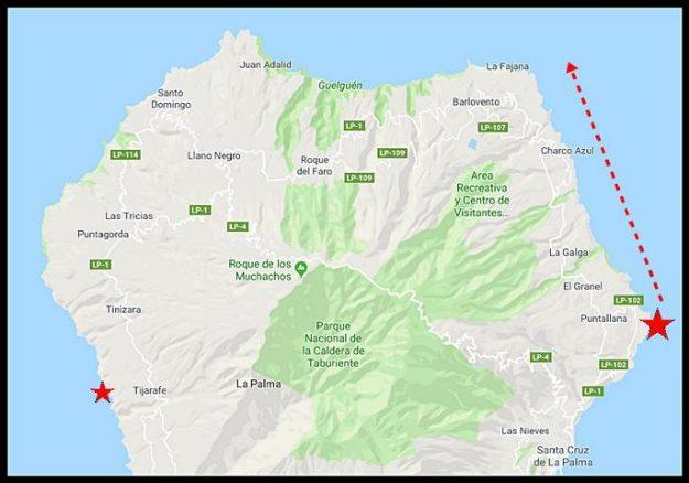 La Palma Wanderstrecke - Sommertour