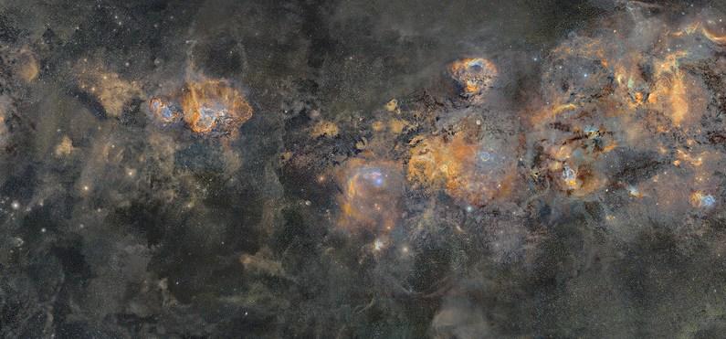 La Vía Láctea en una espectacular fotografía de casi 2 Gigapíxeles que ha costado 12 años y 1.250 horas de exposición