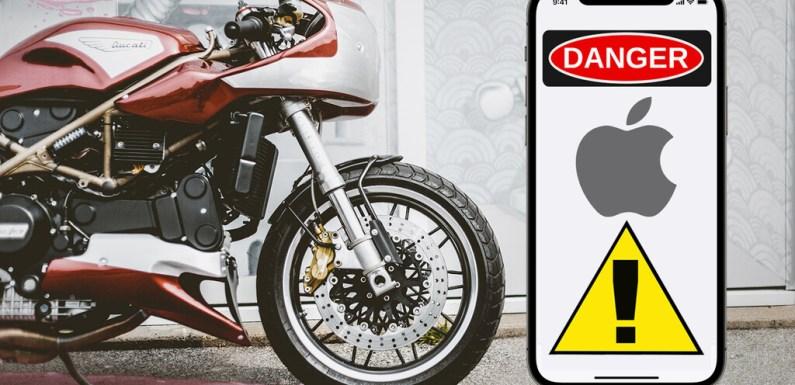 ¡Ojo moteros! Apple advierte que las vibraciones de una moto de alta cilindrada pueden dañar la cámara de los iPhone