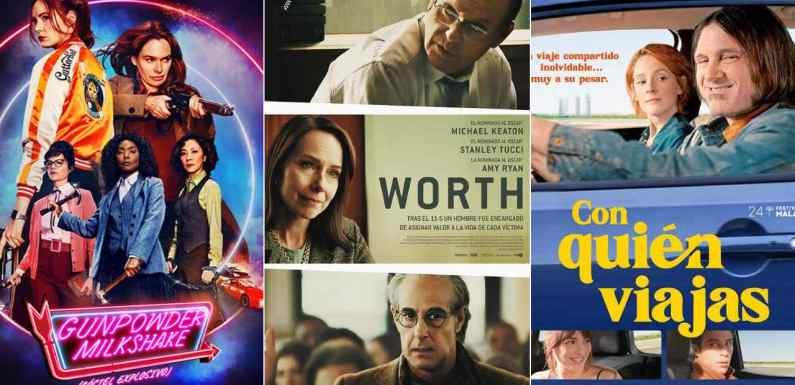 'Gunpowder Milkshake (Cóctel explosivo)', 'Worth' y 'Con quién viajas' destacan entre los estrenos de cine del fin de semana