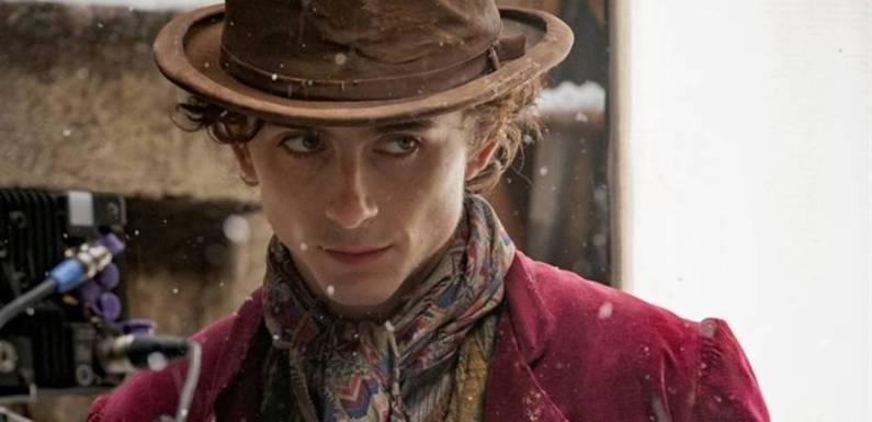 Vistazo musical a 'Wonka': Un fan captura a Timothee Chalamet 'cantando' en el set de rodaje