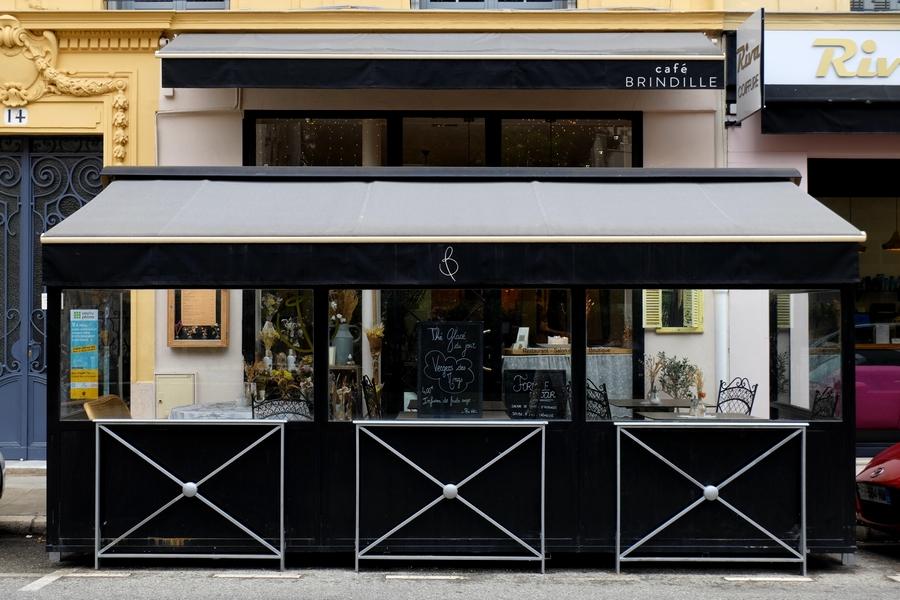La devanture du Café Brindille à Nice