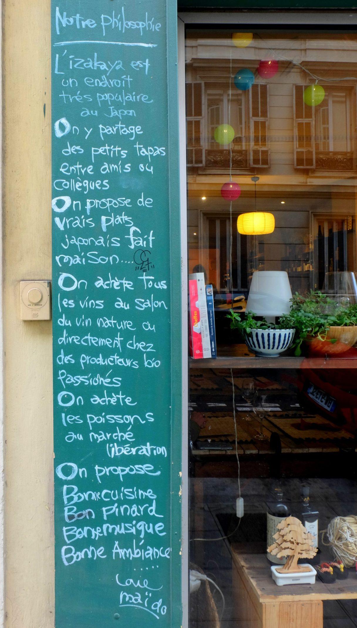 La philosophie du restaurant Maïdo