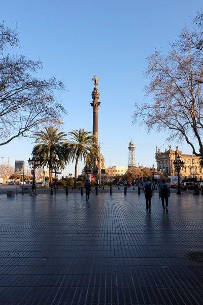 La Colonne de Christophe Colomb sur le Port de Barcelone