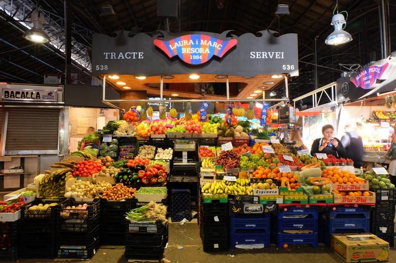 Les fruits au marché couvert de Barcelone