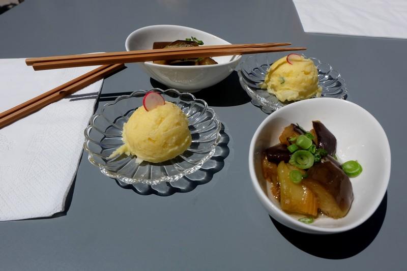 Mises en bouche au restaurant japonais à Nice