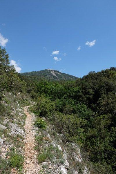 Sentier de randonnée sur la Côte d'Azur