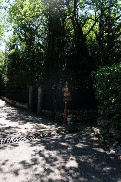 Route à Peillon