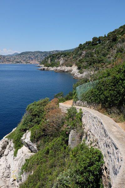Sentier des douaniers à Saint-Jean-Cap-Ferrat