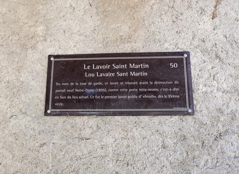 Le lavoir Saint Martin à Annot