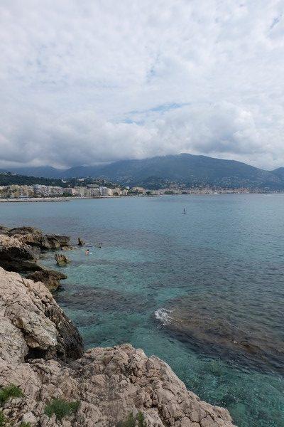 Vue sur la mer Méditerranée depuis Roquebrune-Cap-Martin