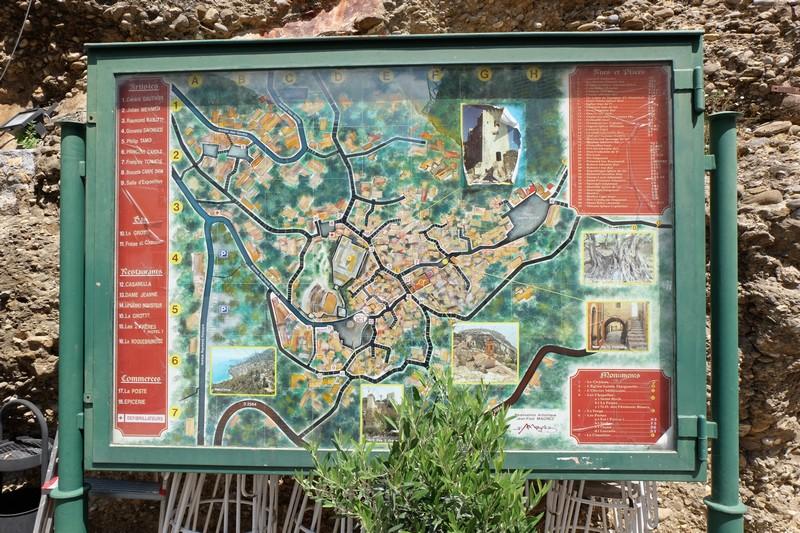 Carte du village de Roquebrune-Cap-Martin