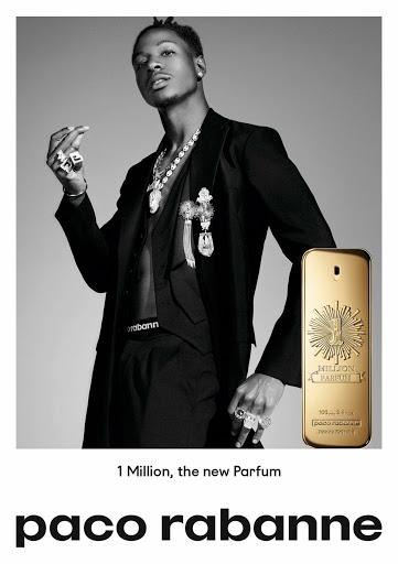 Affiche de One Million, les parfums Paco Rabanne au top du Mainstream Homme avec Joey Bada$$