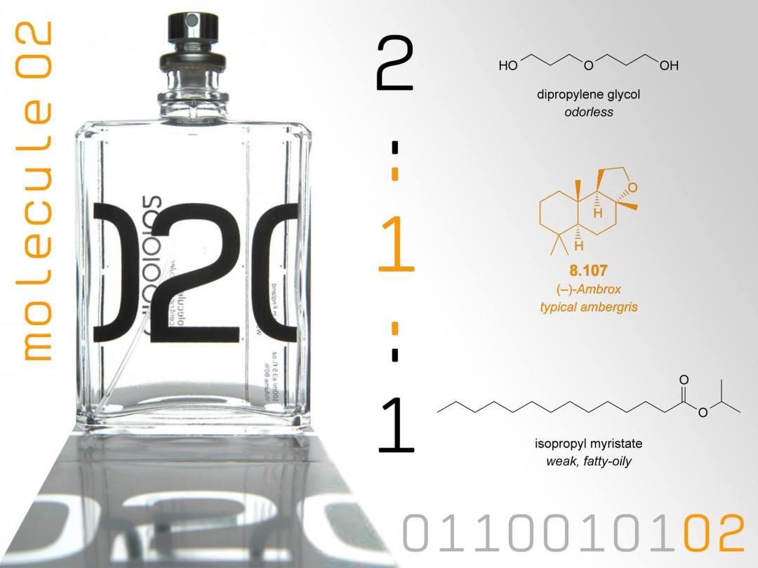 Très accessible pour la parfumerie de niche : Escentric Molecules. Ici le parfum Escentric 02