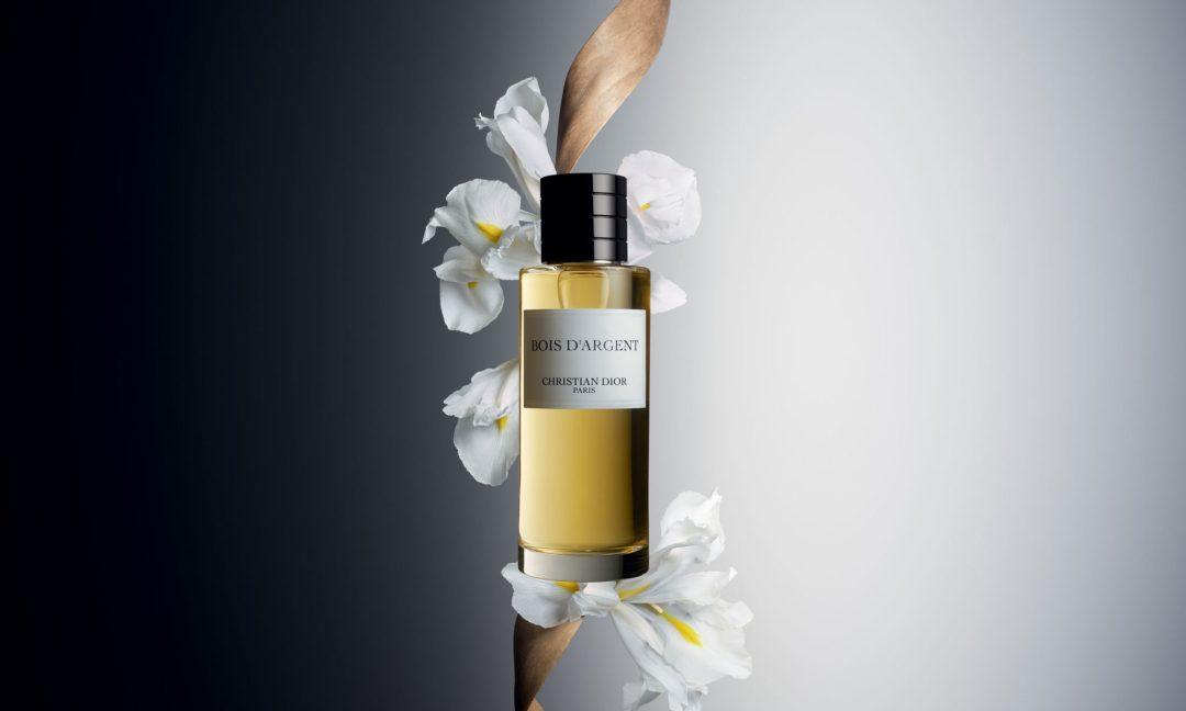 Affiche du Parfum Bois d'Argent, collection privée de Christian Dior
