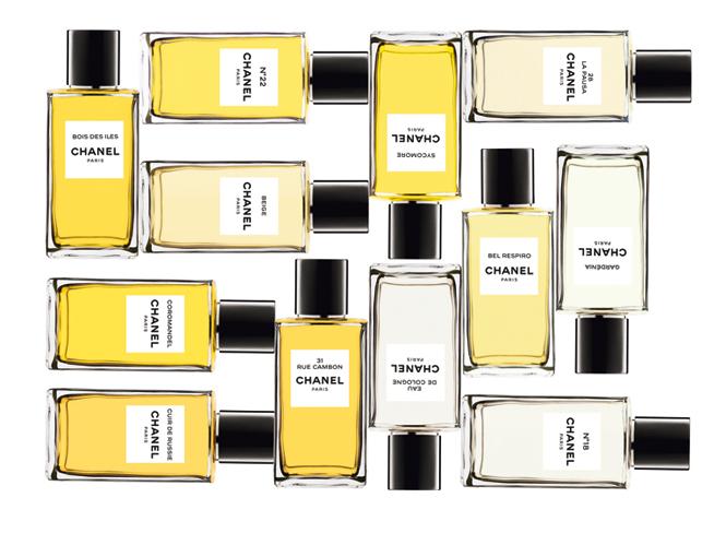Flacons de la collection Privée Les Exclusifs de Chanel