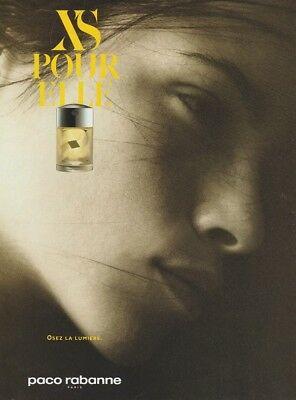 Publicité pour XS pour elle de Paco Rabanne. Parfum discontinué.