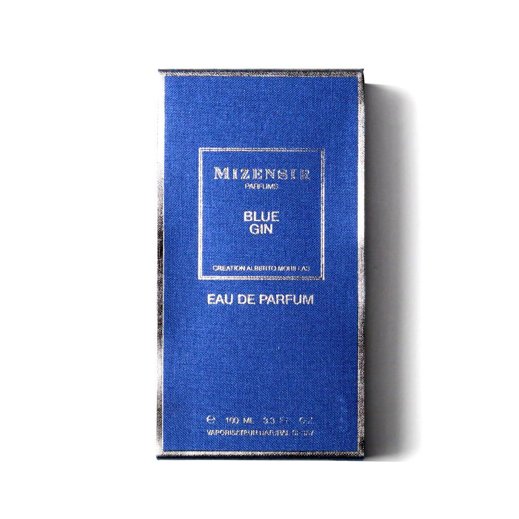 Boite parfum Blue Gin de Mizensir