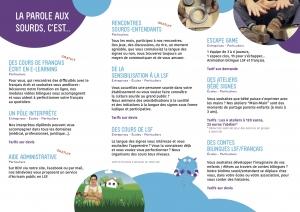 Brochure française La Parole Aux Sourds