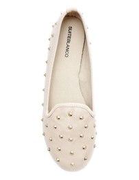 Blanco - Slippers tachuelas