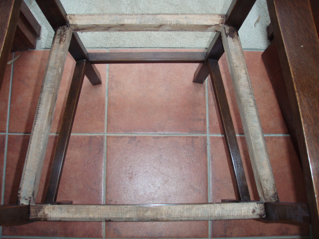 Asiento de silla en forma de trapecio