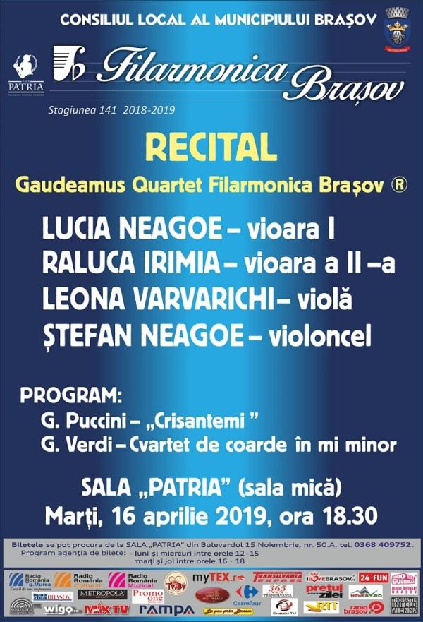 Filarmonica - Recital 16 aprilie 2019