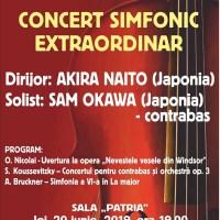 Concert Simfonic Extraordinar susținut de Orchestra Simfonică sub bagheta dirijorului Akira Naito