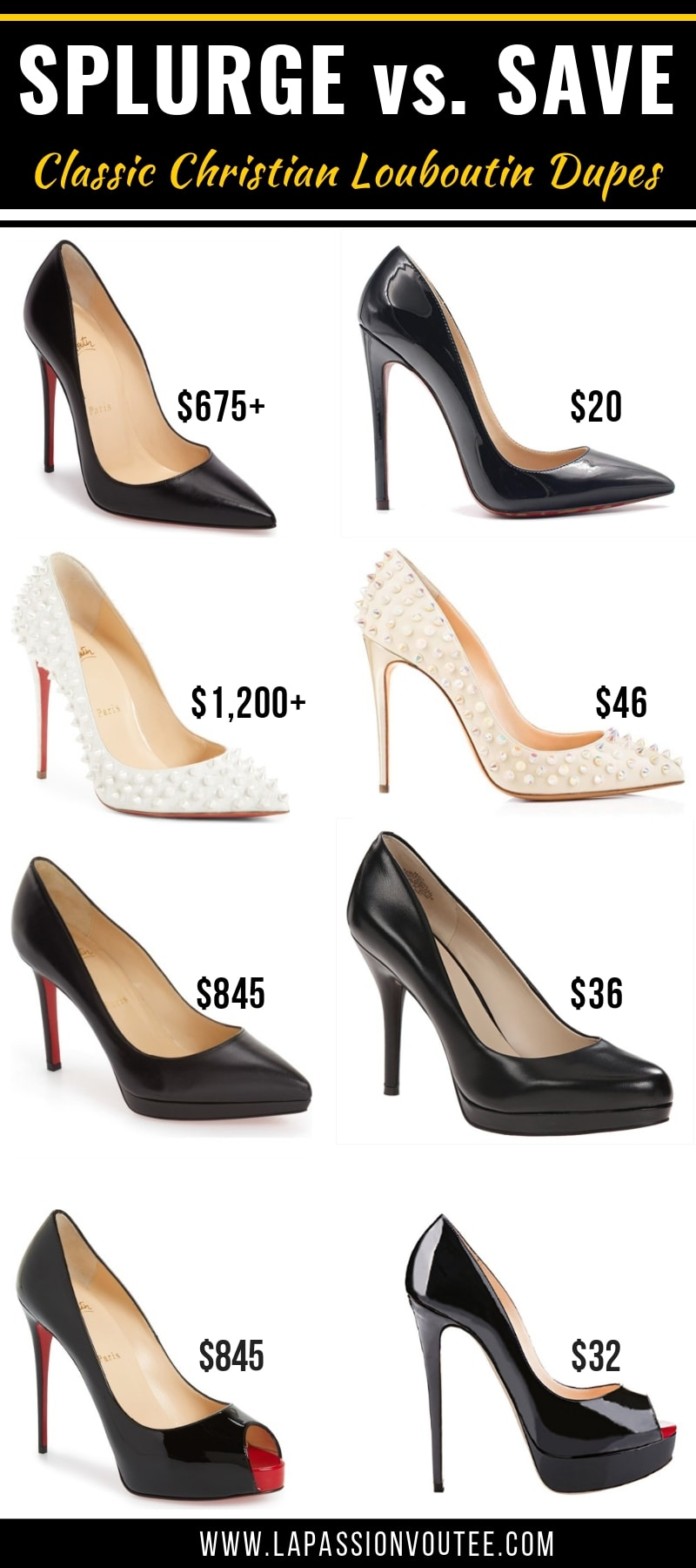 d337c5a51b86 15+ Christian Louboutin shoe dupes you NEED in your closet! This is the  ultimate