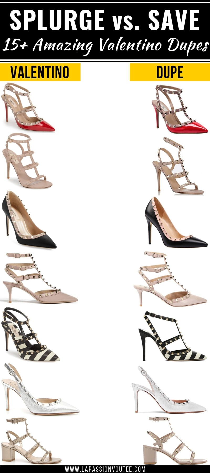 5501f9b90 Looking for the BEST Valentino Rockstud dupes? This post features a roundup  of the best