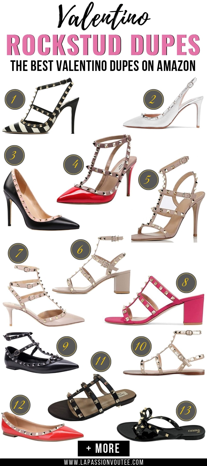 71cb7326c4c53 Looking for the BEST Valentino Rockstud dupes? This post features a roundup  of the best