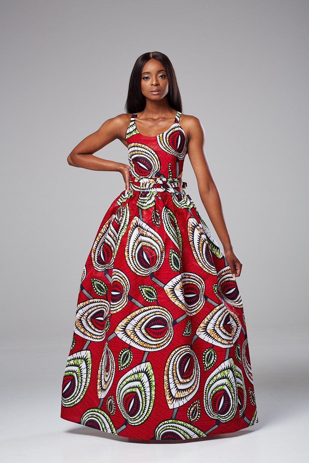 African Print Maxi Dress @ nedim_designs +27829652653