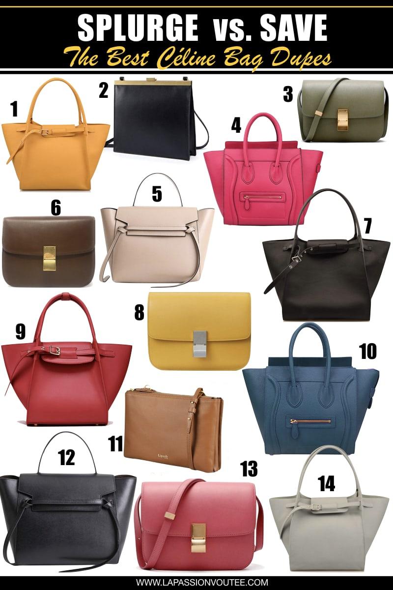 a9bd2226d The Best Celine Bag Dupes: Splurge vs. Save on Designer Dupes