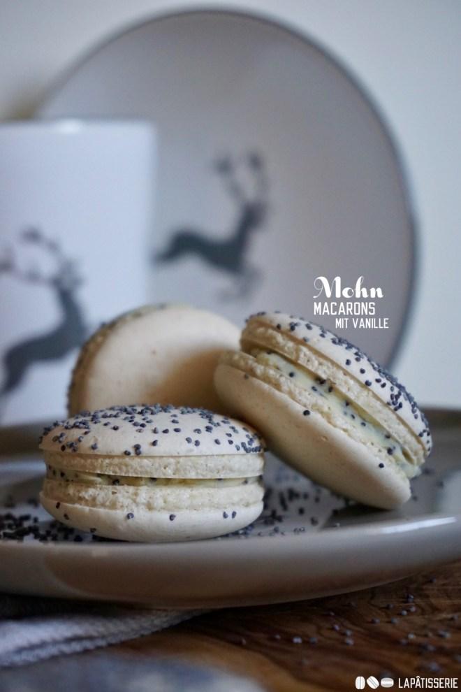 Ein Stück Österreich und Frankreich: Germknödel-Macarons aka Mohn-Vanille-Genuss