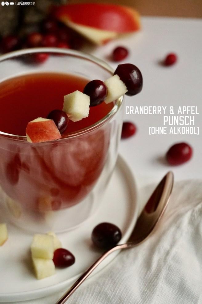 Weihnachtszeit ohne Punsch und Glühwein wäre undenkbar, darum gibt's einen Cranberry & Apfel Punsch. Wahlweise mit Alkohol.