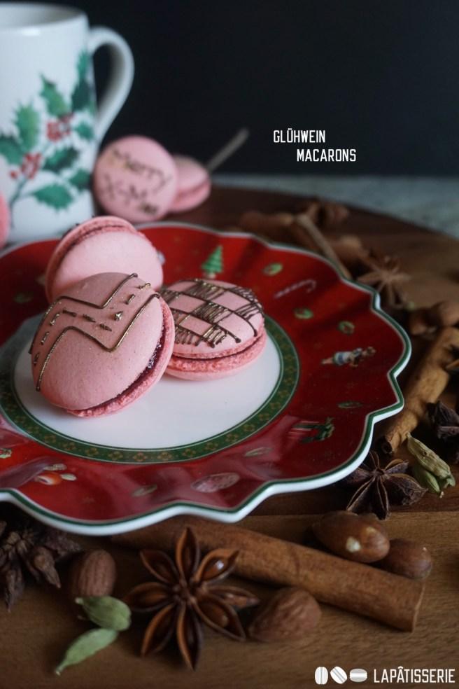 Auch in diesem Jahr gibt's eine Sorte Macarons zu Weihnachten. Gefüllt mit Glühwein-Konfitüre.
