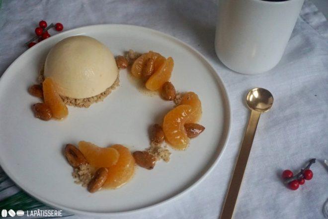 Endlich mal wieder ein wunderbares Dessert zu Weihnachten mit Mandarine und gebrannter Mandel.