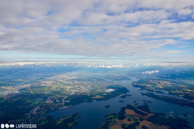 Bye bye Stockholm. Zeit für die Rückreise. Selbst von oben sieht Schweden wunderschön aus.