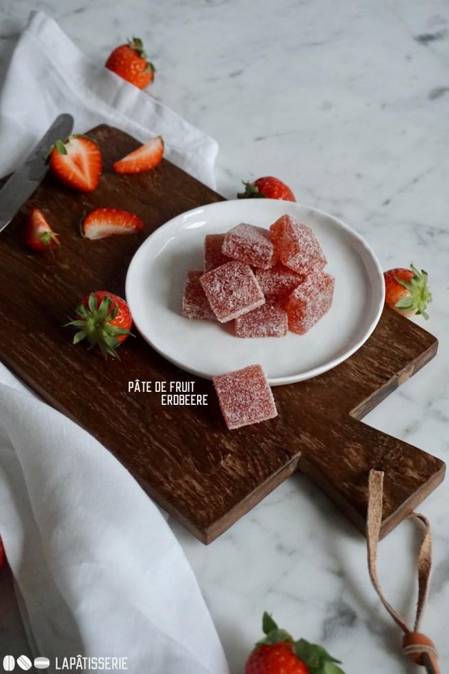 Kleines Konfekt für Zwischendurch: Pâte de fruit aus Walderdbeeren. Total einfach zu machen.