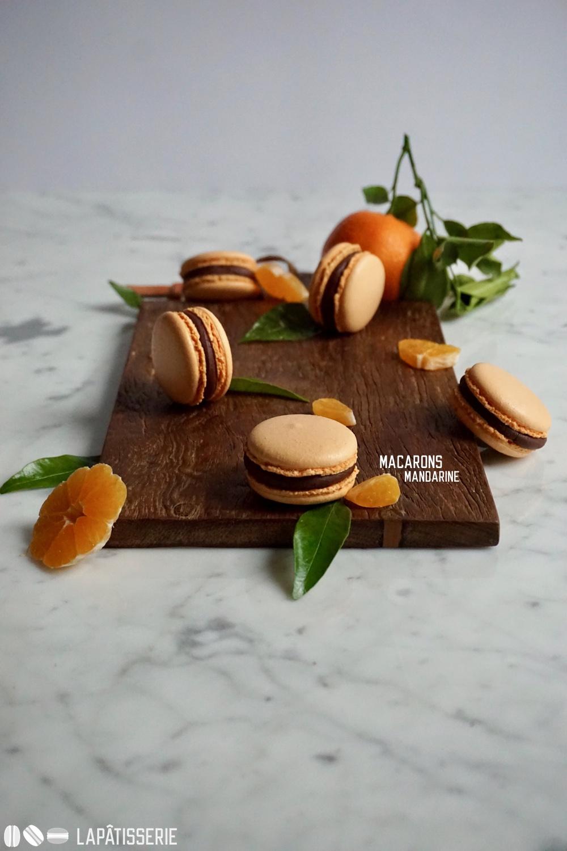 Ein paar Macarons mit Mandarine und dunkler Schokolade können doch nicht schaden.