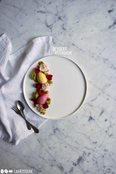 Das perfekte Dessert für Ostern, damit man auch zu Tisch auf die Suche nach Ostereiern gehen kann.