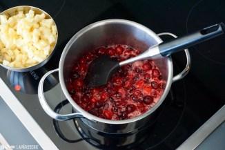 Schritt 4: Apfelwürfel zugeben