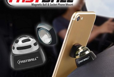 As Seen On TV Fastball Magnetic Car Cell Phone Mount / Holder by BulbHead – Universal 360 Degree Car Dashboard Cellphone Holder – Swivel to Perfect Viewing Position