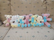 baby bears & bunnies lined up