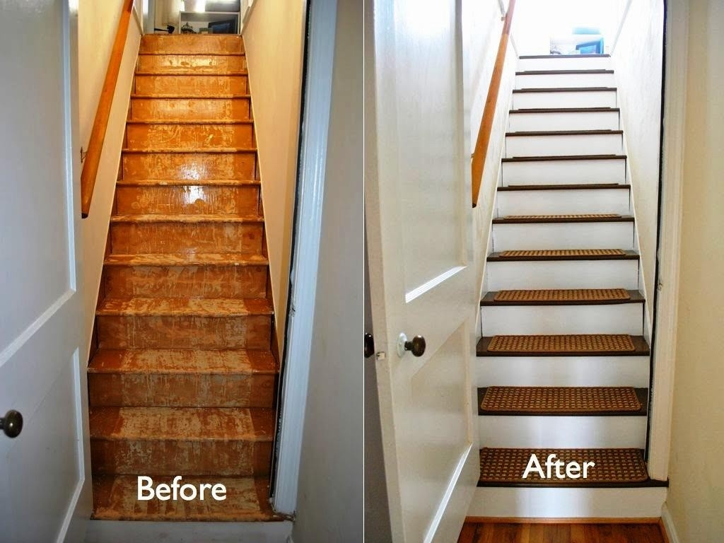 Laminate Stair Treads Before After Royals Courage Easy Methods | Carpet Treads For Steps | Laminate | Interior | Basement Stair Carpet | Double Thickness Tread | Turquoise