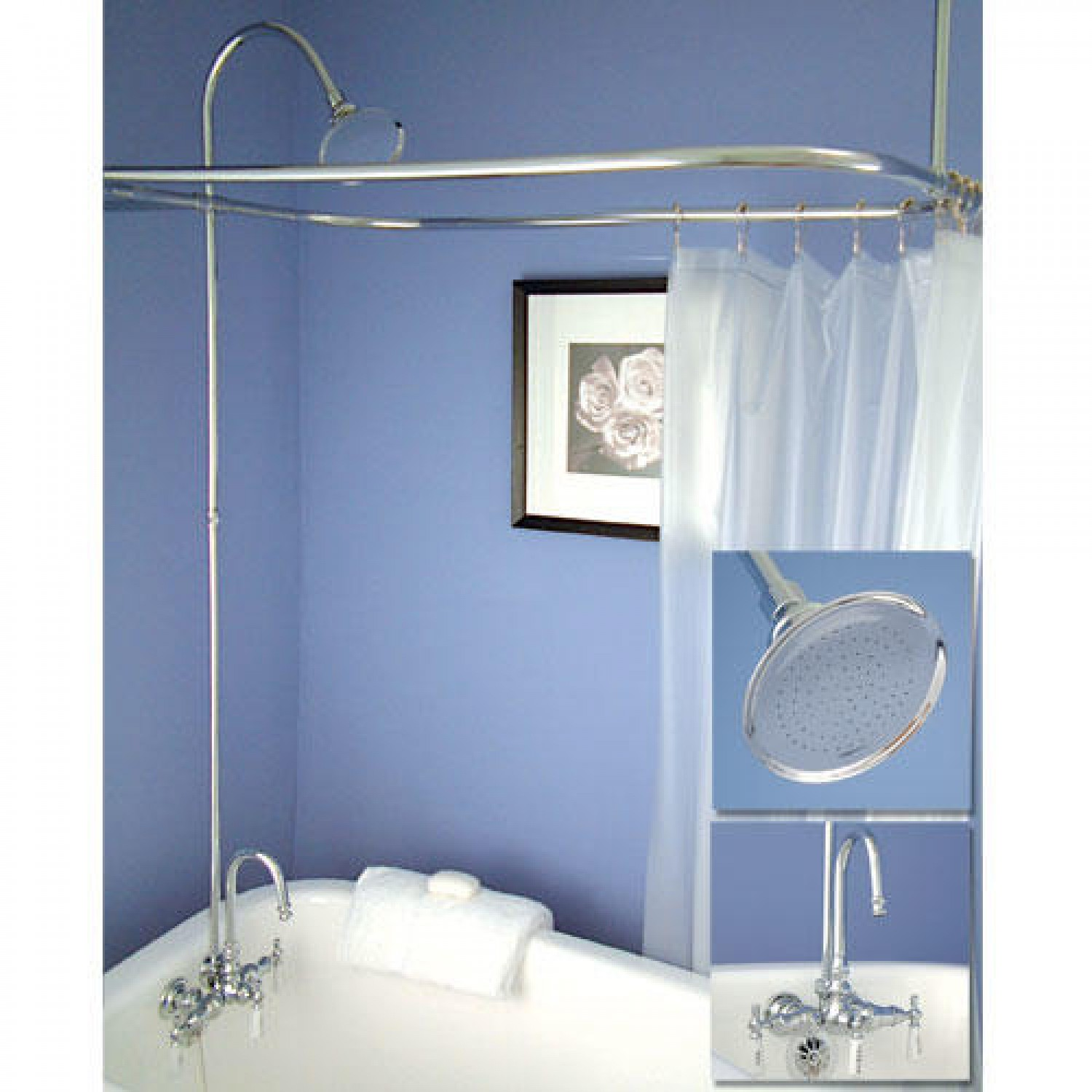 Ideas Set Up Oval Shower Curtain Rod Royals Courage